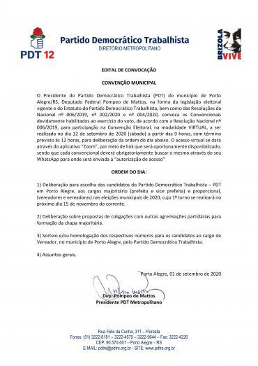 Metropolitano Convoca para Convenção